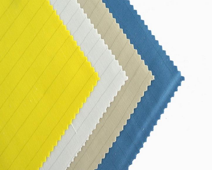 Anti-static stripe matt fabric
